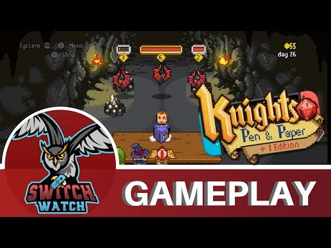 Knights of Pen & Paper +1 Deluxier Edition Nintendo Switch Gameplay