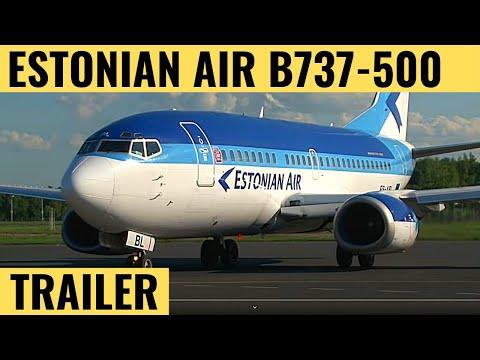 Estonian Air B737-500 - Cockpit Video - Flightdeck Action - Flights In The Cockpit