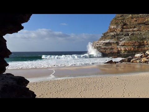 1 hour beautiful hidden beach video viewed from sea cave - r