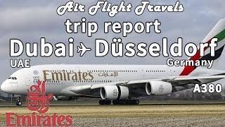 Trip Report : Emirates | Airbus A380 | Dubai to Düsseldorf | EK 057 | DXB-DUS