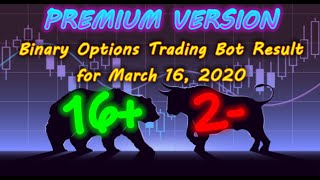 Binary Options Bot Trading Report for March 16, 2020 (16+ 2-) | Premium Version