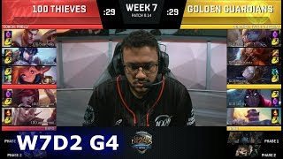 Video 100 Thieves vs Golden Guardians | Week 7 Day 2 S8 NA LCS Summer 2018 | 100 vs GGS W7D2 download MP3, 3GP, MP4, WEBM, AVI, FLV Agustus 2018