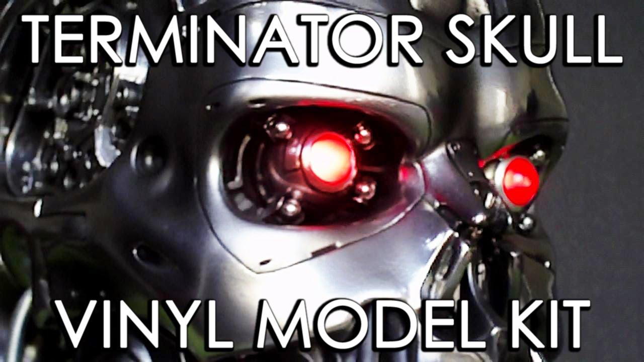Terminator Skull Vinyl Model Kit 1 1 Scale Spanish