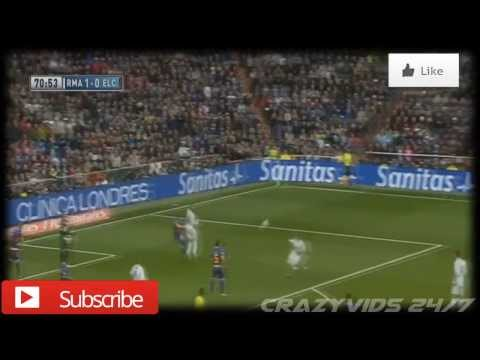 Real Madrid 3 - 0 Elche | Gareth Bale's Incredible Goal | 22/02/14
