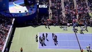 Rafael Nadal, Serena Williams, Roger Federer and David Wagner at US Open Arthur Ashe Kids' Day