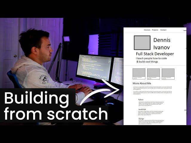 12 Hour Coding Stream - Building My Portfolio Website