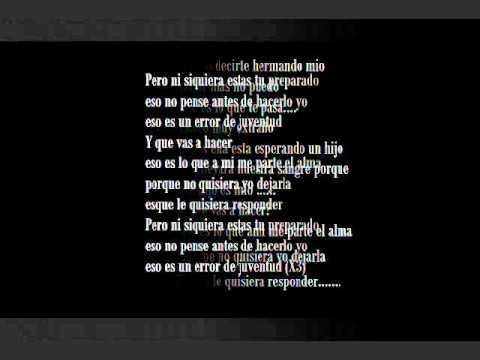 Los Nietos Error de juventud (con letra) - YouTube