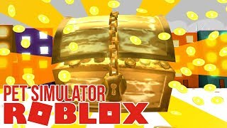 WORLD'S LARGEST treasure trove! | Roblox Pet Simulator #1