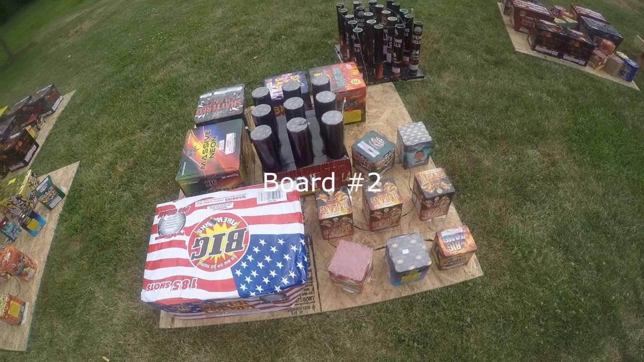 2016 Backyard Fireworks Setup