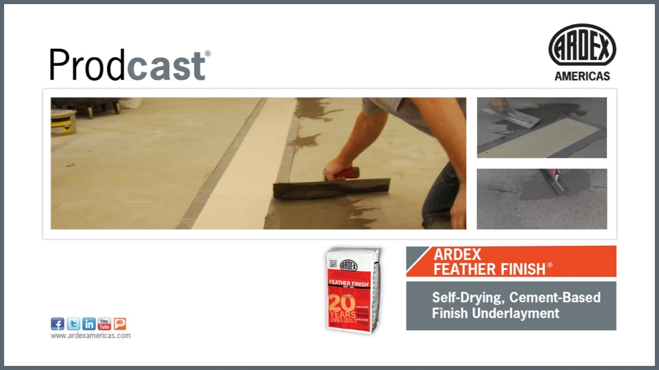 Underlayment Kopen Ardex Feather Finish Self Drying Cement Based Finish Underlayment Prodcast