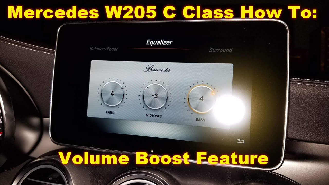 How to enable Volume Boost for streaming audio on your Mercedes W205 C Class