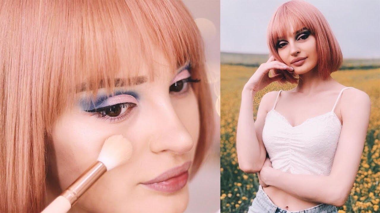 მაკიაჟი ვარდისფერი პარიკით/ფოტოსესია