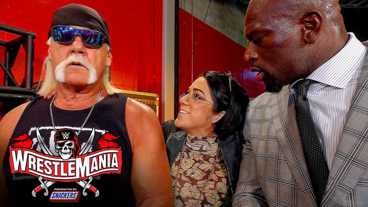 Bayley runs into nWo and Titus O'Neil backstage: WrestleMania 37 – Night 1 (WWE Network Exclusive)