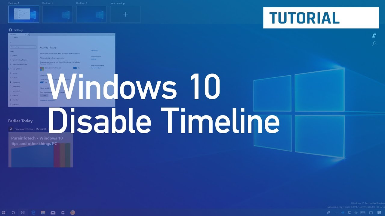 How to disable Timeline on Windows 10 • Pureinfotech
