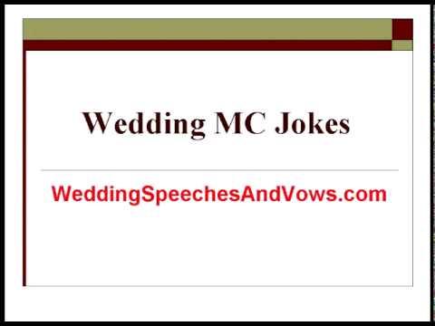 Wedding Mc Jokes