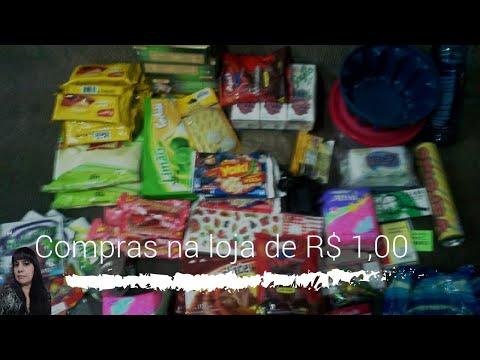Comprinhas na loja de R$ 1,00 Janeiro de 2017 # Fátima Paulista