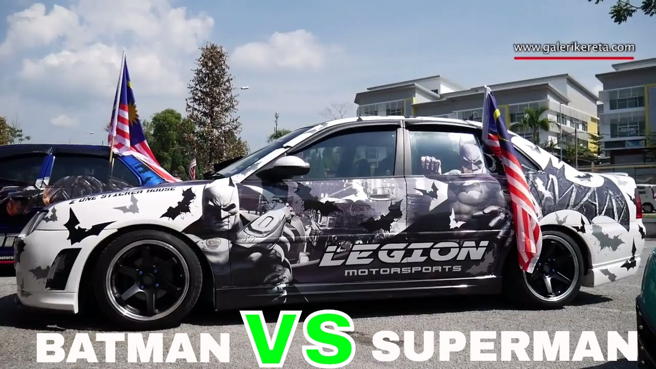 Proton Waja Modified | Batman vs Superman | Legion Motorsports | Galeri  Kereta