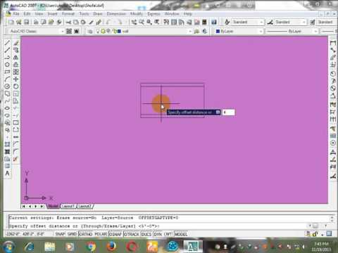 How to Drawing a building plan in autocad software 2007 (Autocad Bangla Tutorials Part 2)