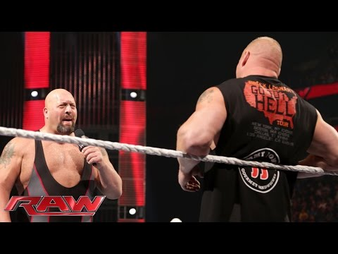 Brock Lesnar lays waste to Big Show Raw, Oct. 5, 2015