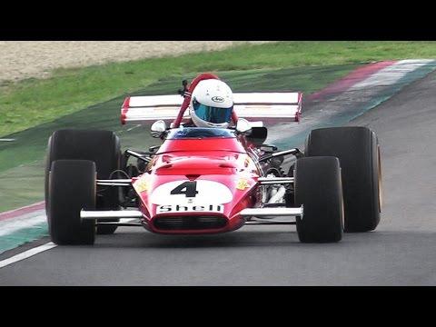 1970 Ferrari 312B F1 Car GREAT Sound - Accelerations & Fly Bys On Track!!
