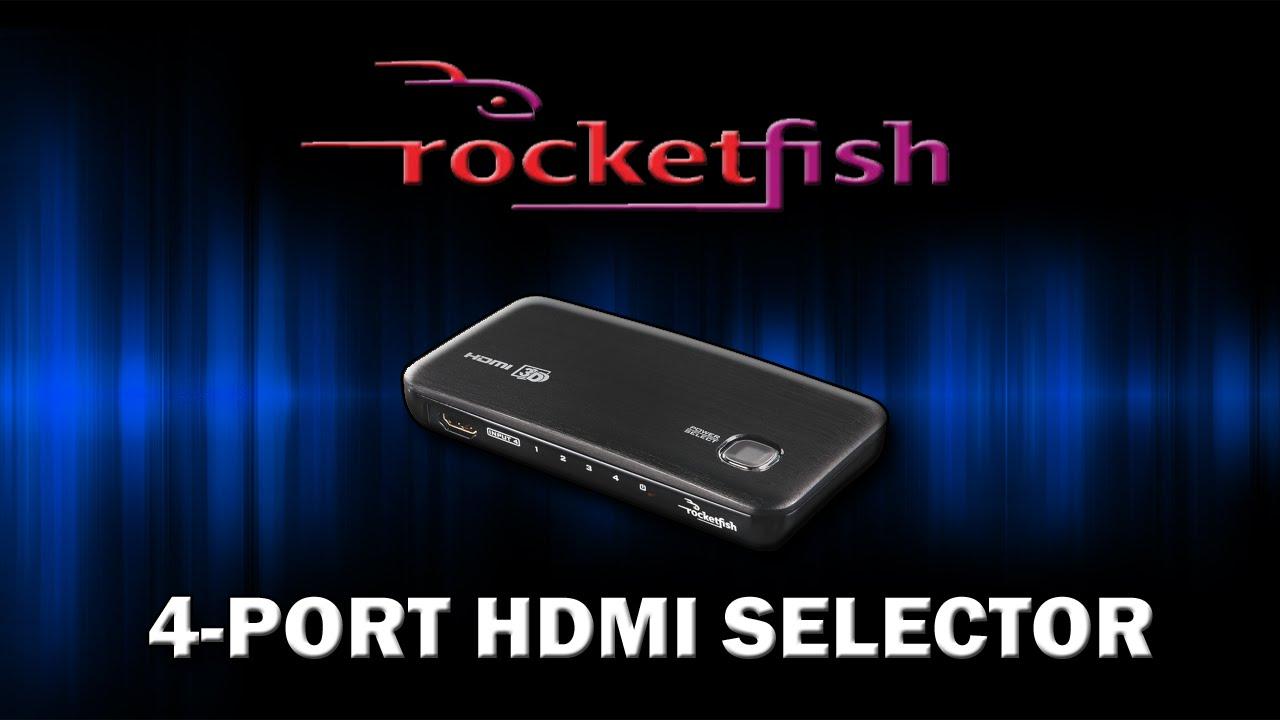 Rocketfish 4-Port HDMI Selector/Switch - Unboxing, Setup, Quality