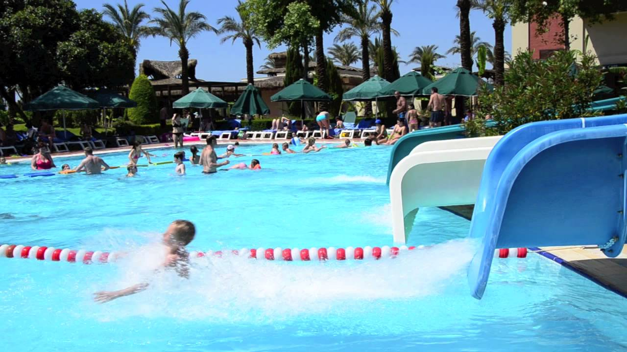 slide at the swimming pool ic hotels green palace youtube - Cool Indoor Pools With Slides