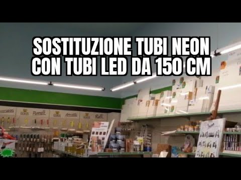 Plafoniera Neon Led 150 Cm : Sostituzione tubi neon con led da 150cm youtube