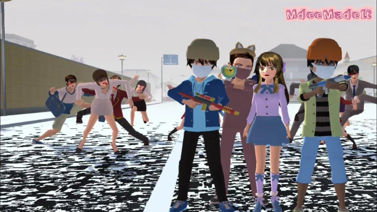 TAIGA'S LIFE: The Escape of the Zombies Ep18 | Sakura School Simulator