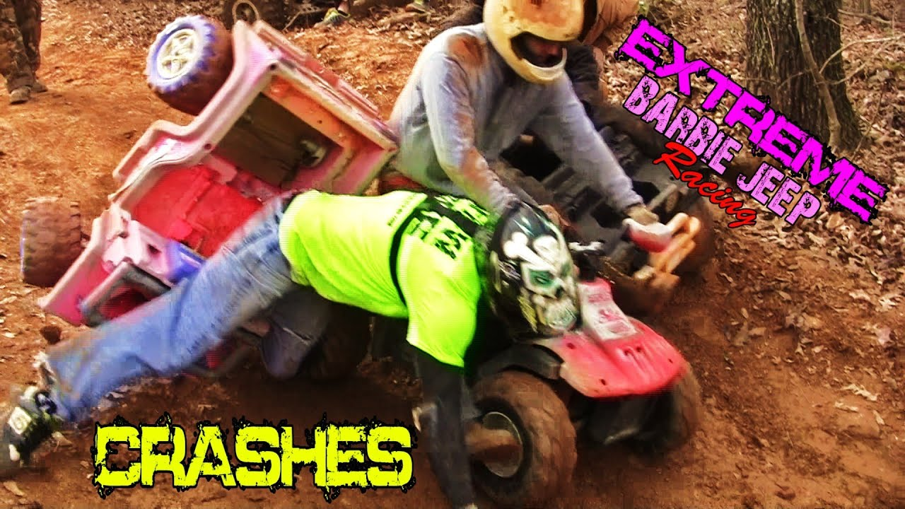 Extreme barbie jeep racing 2013 crashes #1