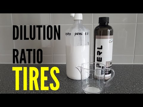 CarPro PERL Dilution Ratio TIRES Car Detailing Products 2019
