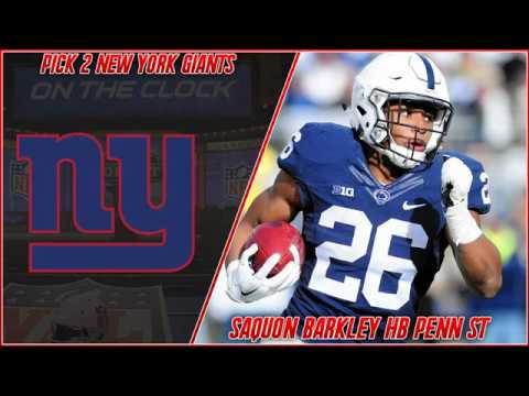 A Giants Fan's Live Reaction to The New York Giants Drafting Saquon Barkley 2018 NFL Draft