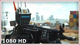 Чаппи полицейский ловит Маму и Папу | Начало фильма Робот по имени Чаппи (2015)