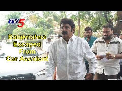 Balakrishna Just Escaped From Car Accident   Anantapur   TV5 News