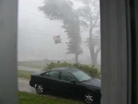 Port Byron Illinois Storm May 2012 with 70 MPH Winds