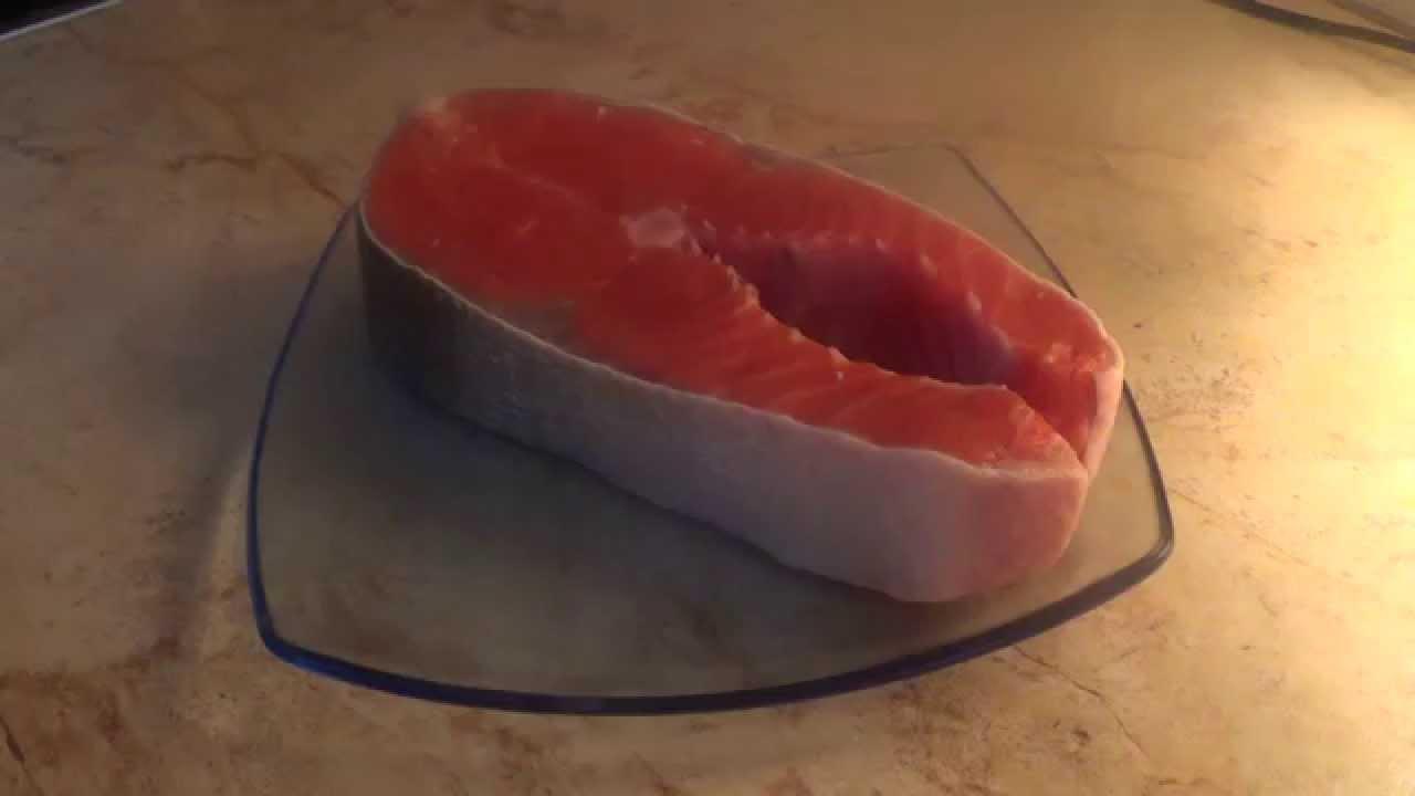 Стейк из кижуча (запеченный в фольге)