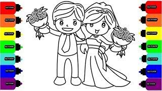 Жених и Невеста Раскраска Рисуем Жениха и Невесту