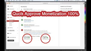 How to request enable monetize quickly approve 100% in 24 hours