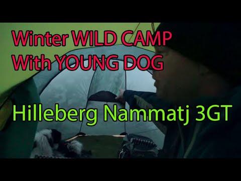 Hilleberg Nammatj 3GT on Dartmoor with Lassie