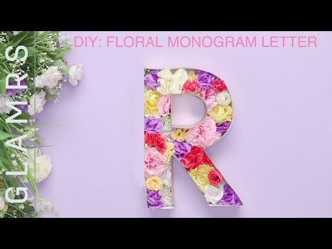 DIY Room Decor: Floral Monogram Letter - Easy DIY Tutorial | Wall Decoration Ideas