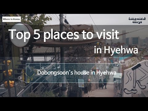 Top 5 places to visit in Hyehwa(including Dobongsoon's house, My Love from the Star's cafe)