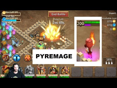 Enchantment PYREMAGE Summon COMET Blast Castle Clash
