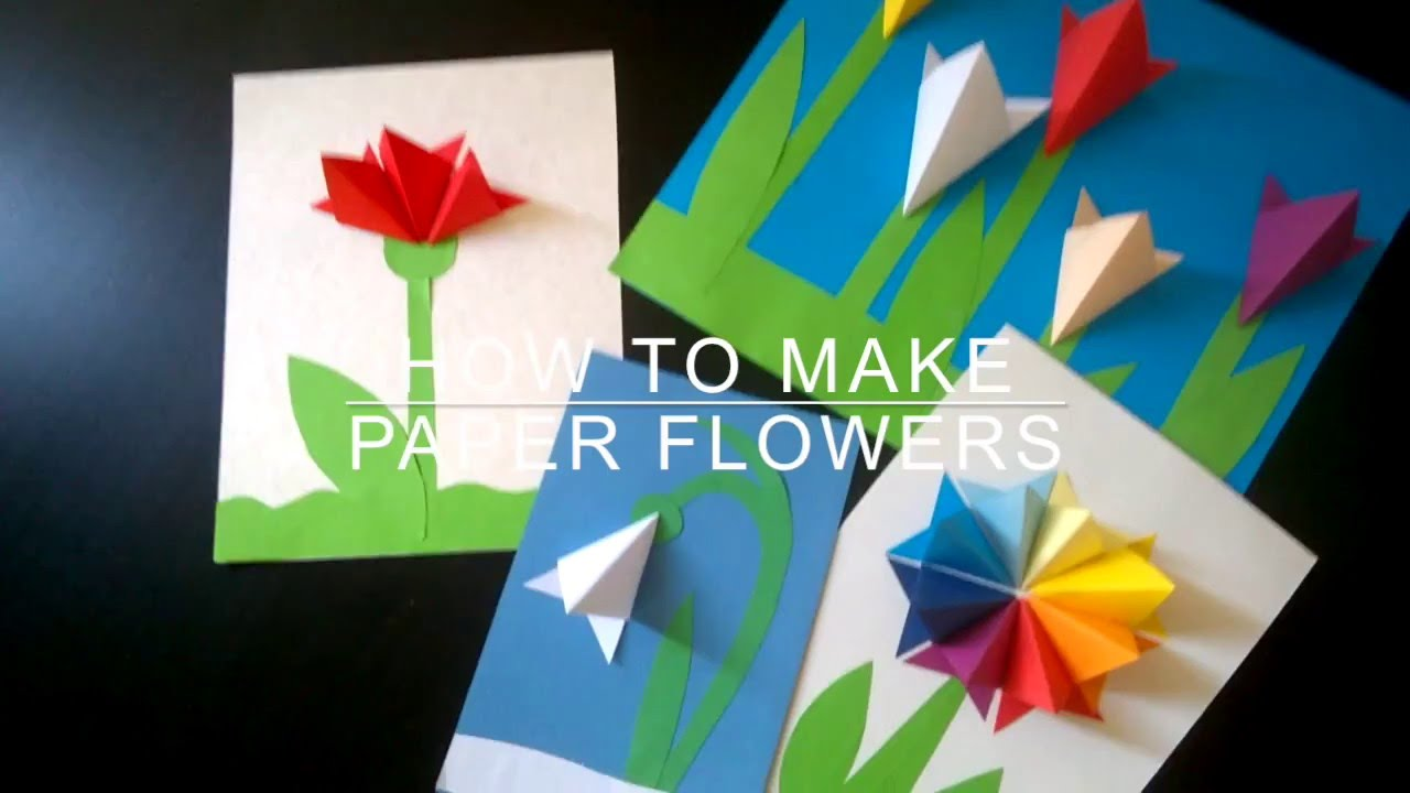 How to make paper flowers youtube youtube premium mightylinksfo