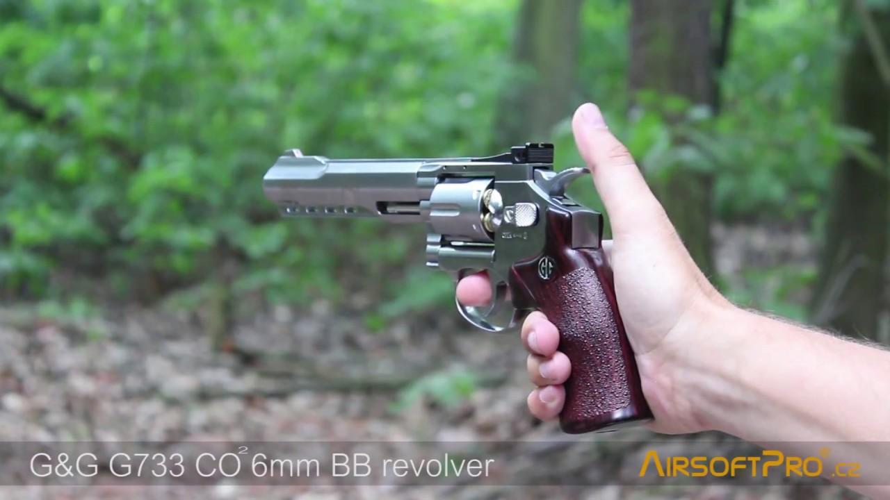 "Airsoft Revolver G733 - 6"", CO2 - G&G"