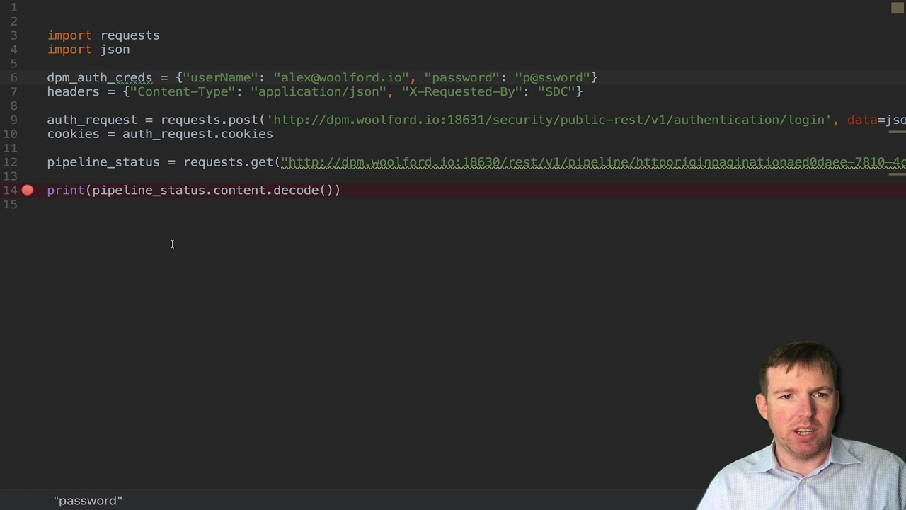 how to make API requests to StreamSets Control Hub managed Data Collectors