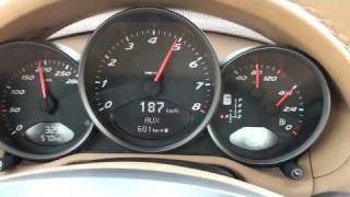 2009 Porsche Boxster 987-2 First Top Speed 190km/h Up Break Through [HD]