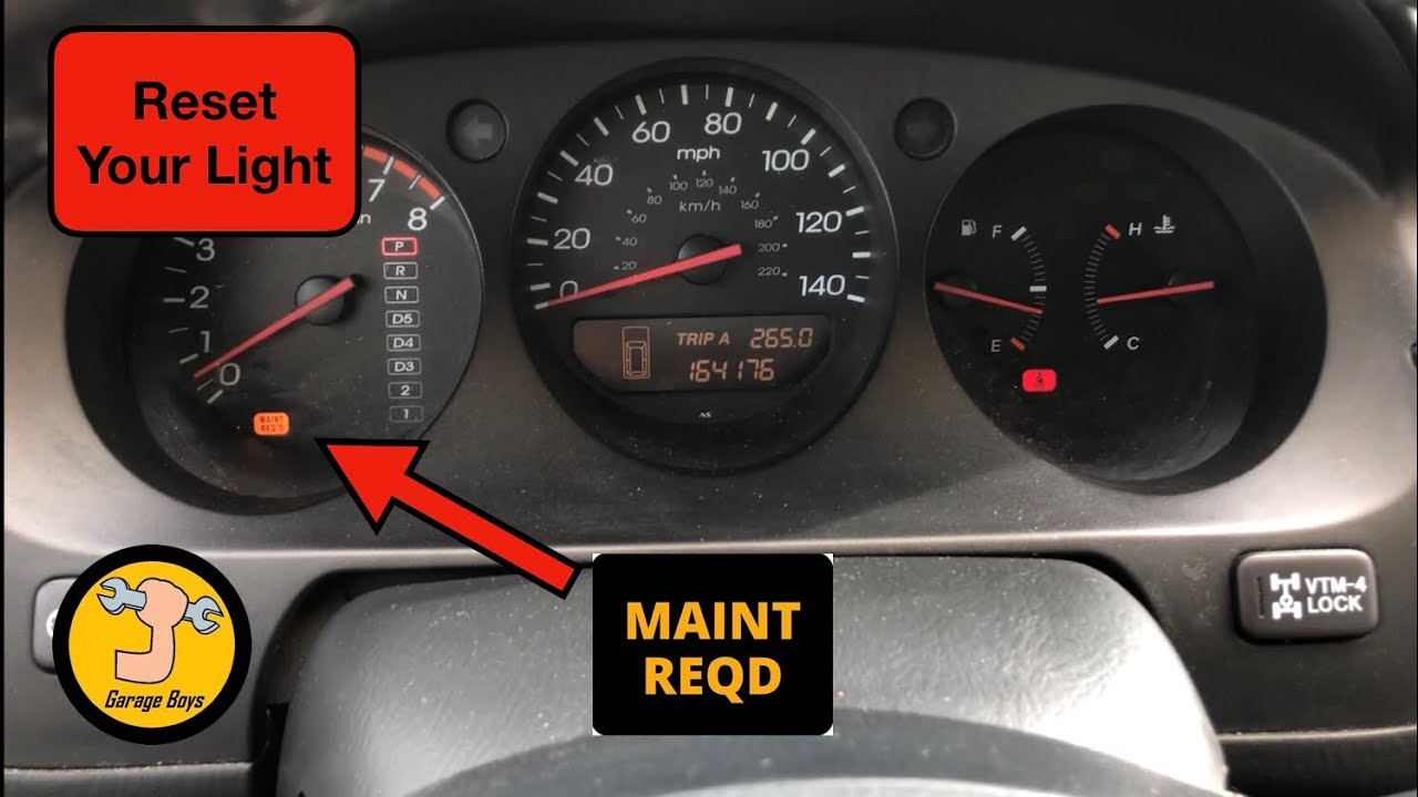 How To Reset Maintenance Required Light On Acura MDX
