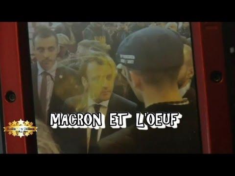 Macron se prend un oeuf sur la t te au salon de l for Macron salon agriculture oeuf
