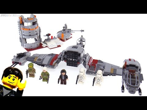 LEGO Star Wars Defense of Crait review! 75202