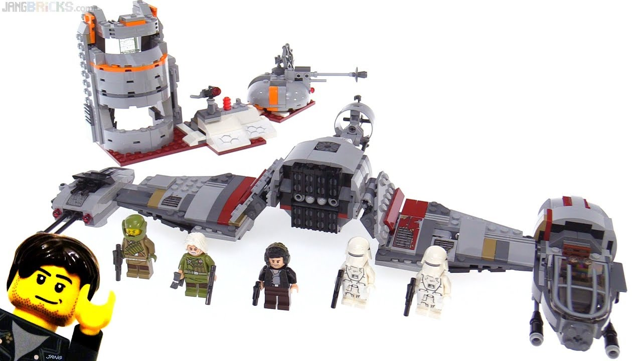 Lego Star Wars Defense Of Crait Review 75202 Youtube 75157 Captain Rexamp039s At Te