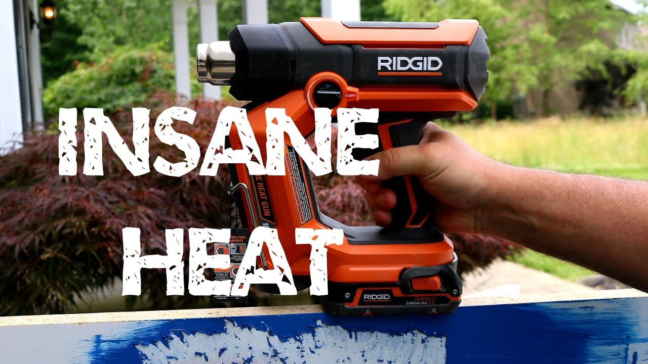 All New Ridgid Heat Gun Review And How To Use It To Strip Paint And Much More Ridgidheatgun Youtube